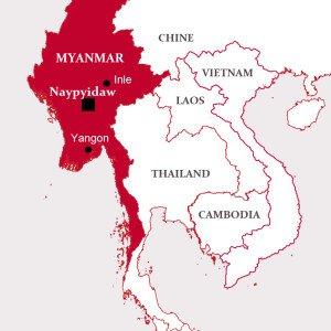Myanmar On Map Of Asia.Southeast Asia Myanmar Iecd